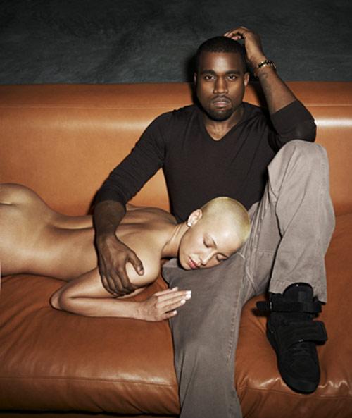 Kanye west amber rose naked